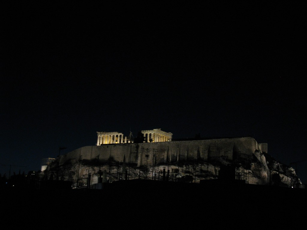 View of the Acropolis from the Athens Backpacker Hostel | © nickfourtimes/Flickr