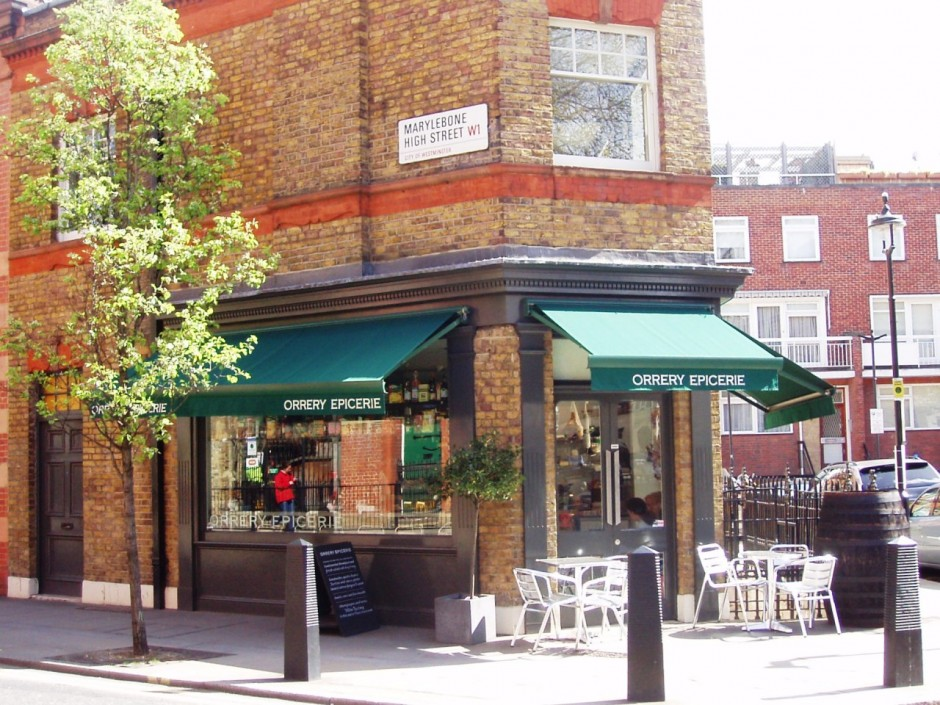The outside of Orrery deli and restaurant