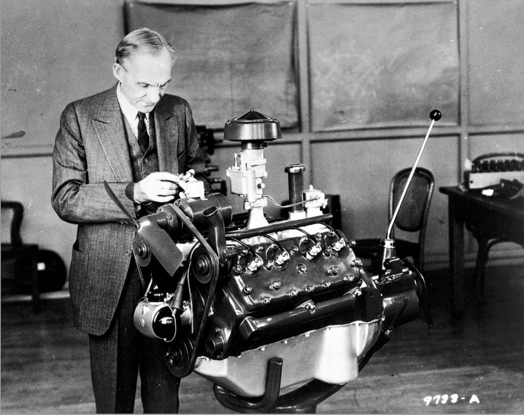 Henry Ford Looking at a V-8 engine   © ndwariga/Flickr