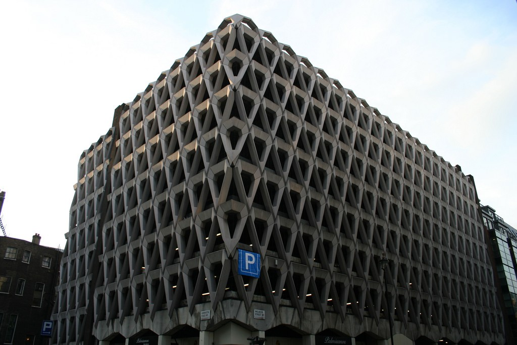 The exterior of the Welbeck St Carpark