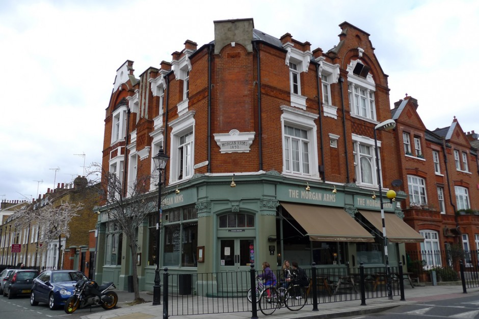 The outside of The Morgan Arms in Bow