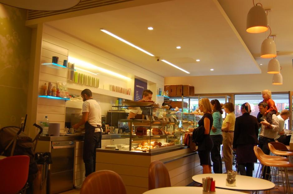 Inside Euphorium bakery