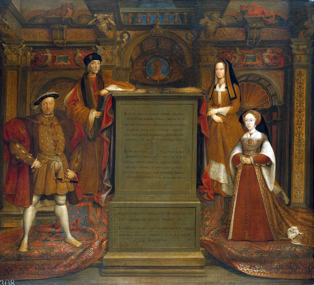 Copy of Holbein's destroyed Whitehall mural of Henry VII, Henry VIII, Queen Elizabeth of York, and Queen Jane Seymour | © Lisby/Flickr