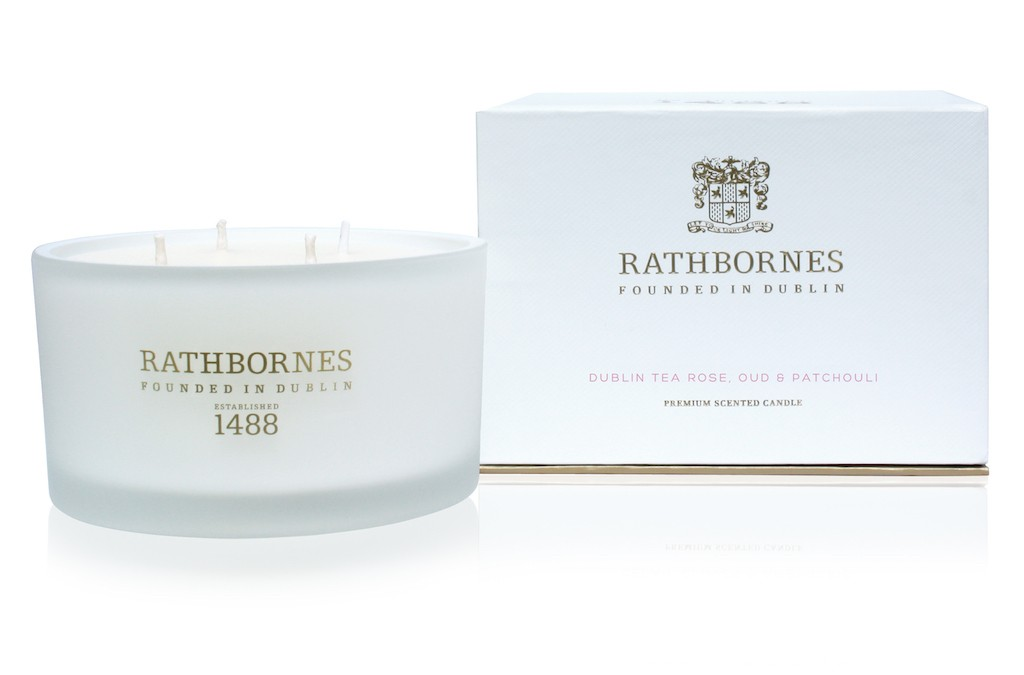 Dublin Tea Rose candle by Rathbornes | Courtesy of Rathbornes