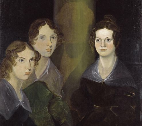 Anne, Emily, and Charlotte (with Branwell painted out). Painted by Branwell Brontë, circa 1834, and now found at the National Portrait Gallery | WikiCommons