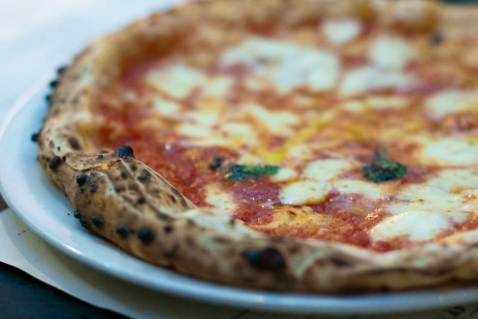 A close up of Franco Manca pizza