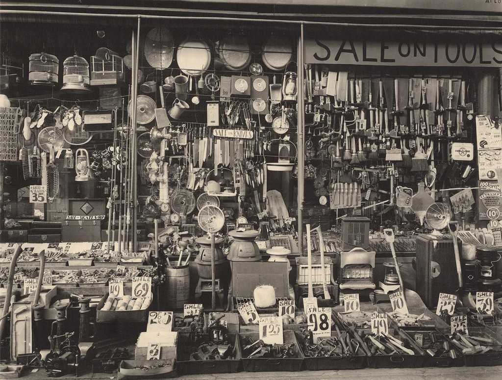 [ A ] Berenice Abbott - Hardware Store, 316-318 Bowery at Bleecker Street, New York (1938) | © cea +/Flickr