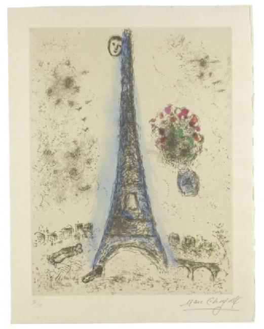 Marc Chagall, Etching from 'Celui Que Dit Les Choses SansRien Dire' Album - IV | Courtesy of cea +/Flickr