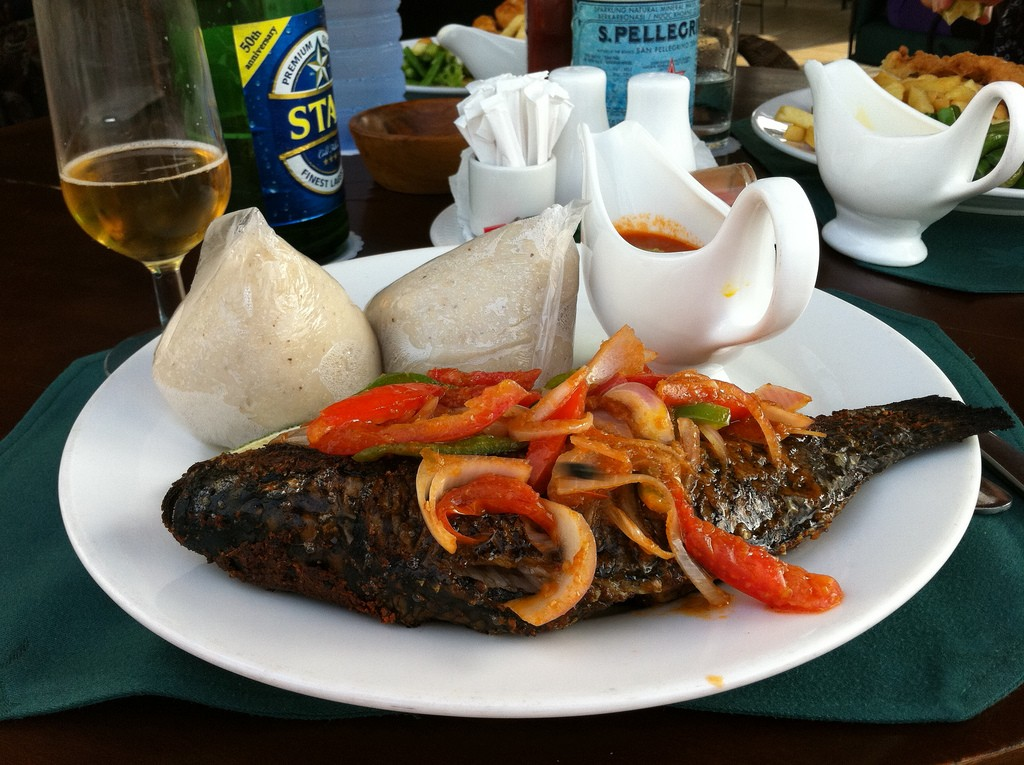 Banku and Tilapia © sshreeves