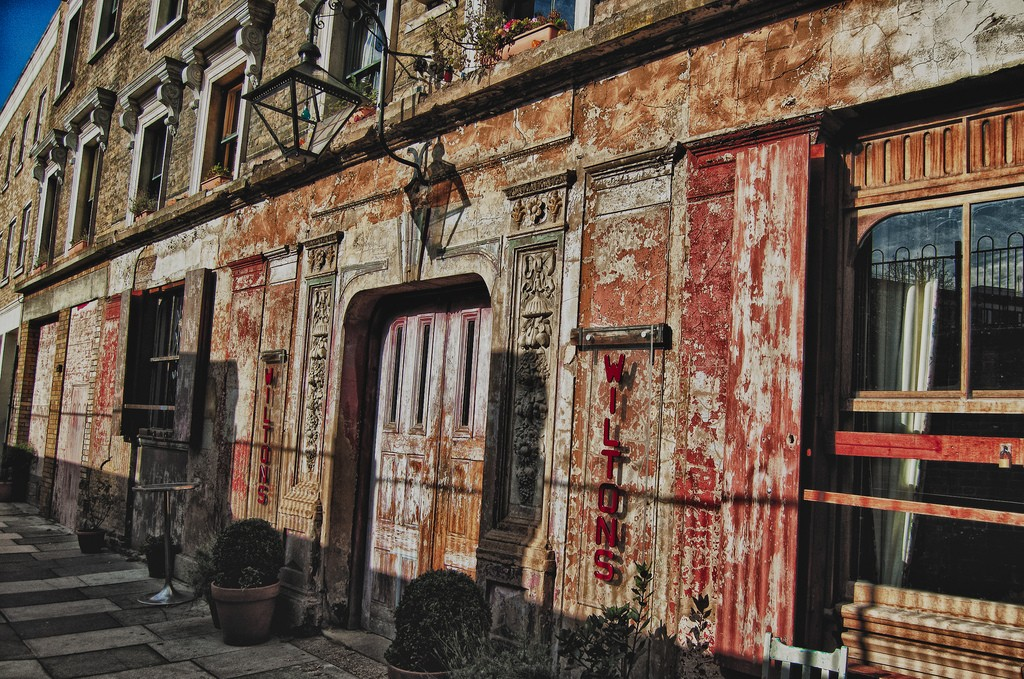 The outside of Wilton's Music Hall