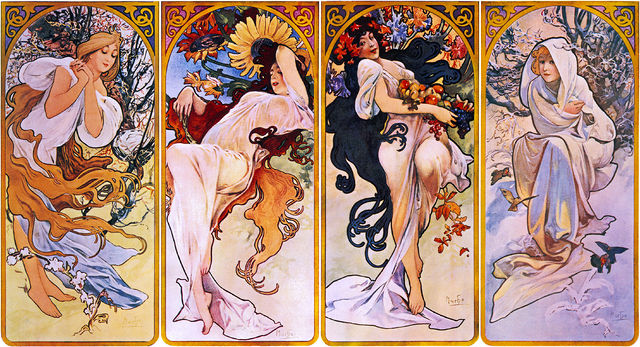Mucha's Four Seasons / Library of Congress / Flickr