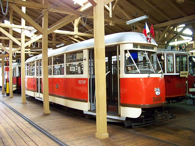 Old trams at the Museum | ©ŠJů / Wikimedia Commons