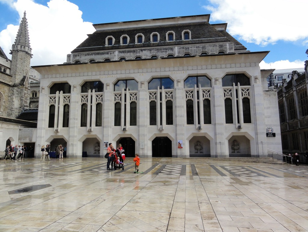 A shot of Guildhall Yard