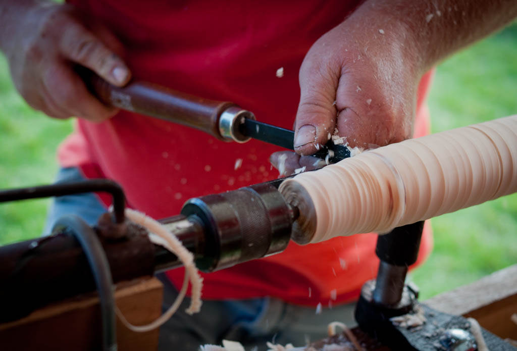 Turning Wood at The Farmers' Museum | © Chris Evans / Flickr