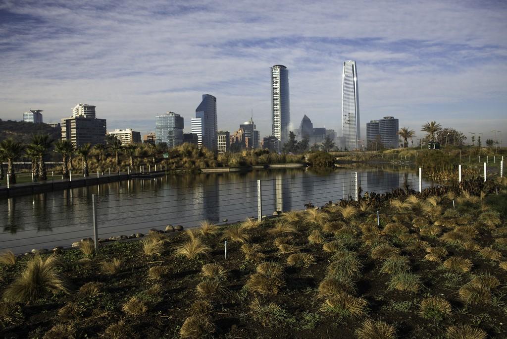 Bicentenary Park with Santiago de Chile Amazing Skyline | 130629-4889-jikatu © Jimmy Baikovicius