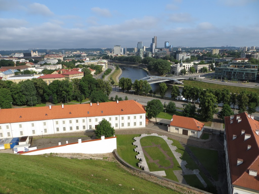 View from Gediminas Hill in Vilnius. The cream buildings of National Museum of Lithuania can be seen at the bottom of the hill | Bernt Rostad / Flickr