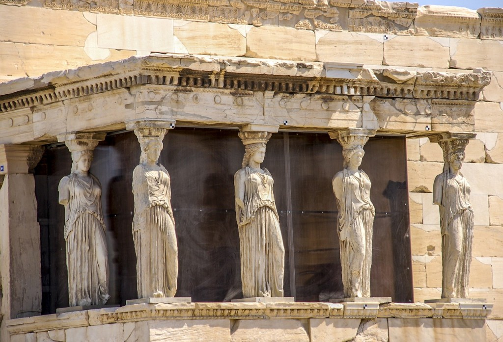 Detail of the south porch of Erechtheion with the Caryatids | © PixaBay