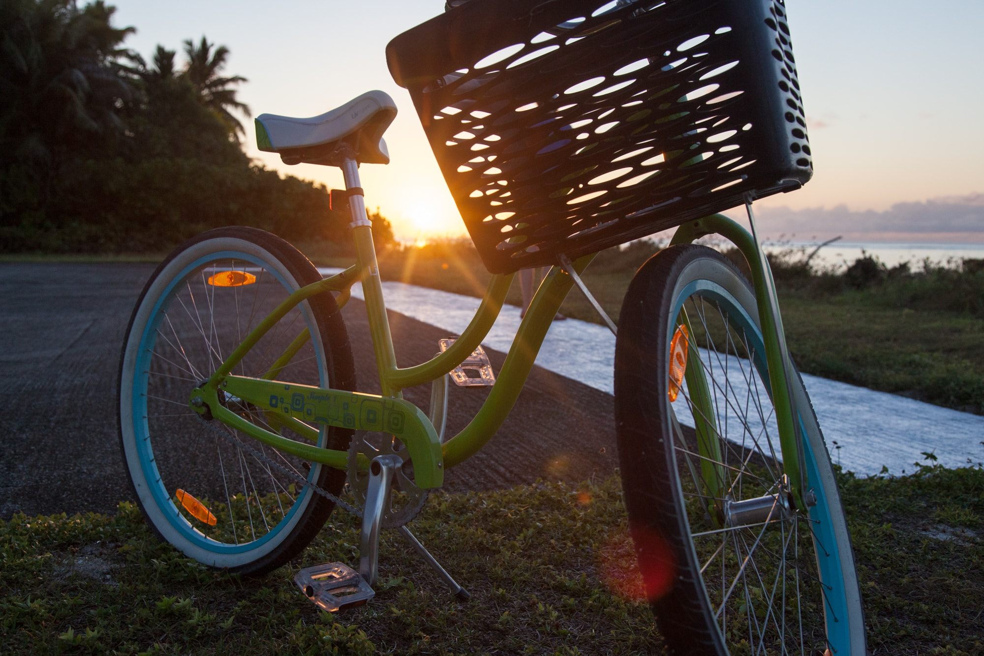 Cycling at sunset.   © image courtesy of www.goexploreseychelles.com