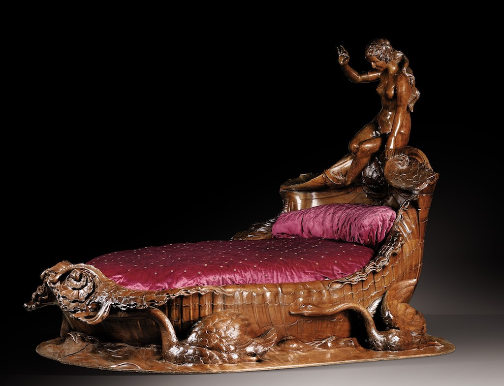 An exceptional carved mahogany bed, second half 19th-century (est. £500,000-800,000)