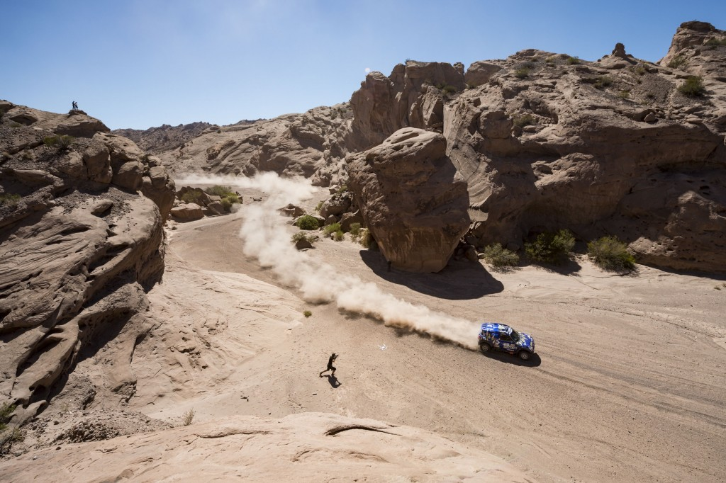 Mohamed Abu Issa of X-Raid Team races during stage 10 from Chilecito to San Juan, Argentina| © Red Bull Content Pool