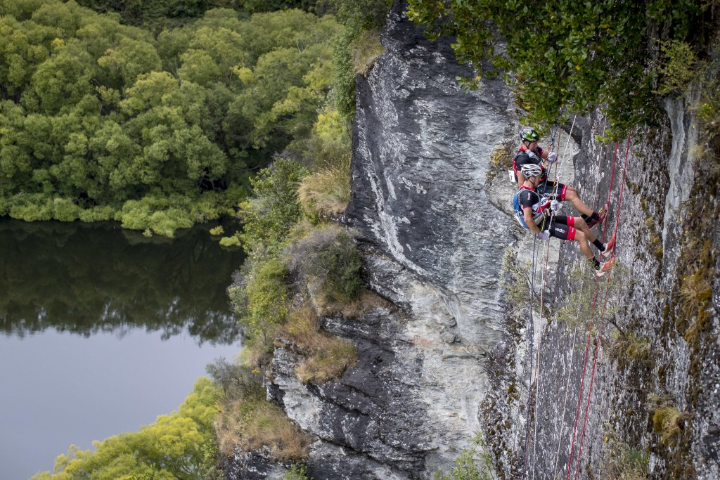 Team Torpedo7 Pete Smallfield and Mitch Munro abseil during the race   Courtesy of the Red Bull Content Pool