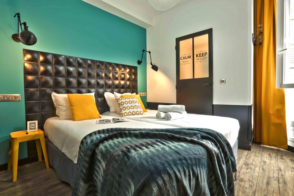 Bedroom at Arty Paris - Hostel │ Courtesy of Arty Paris - Hostel