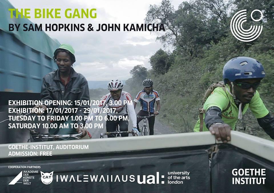 The Bike Gang exhibition poster | Courtesy of Julian Manjahi / Goethe-Institut