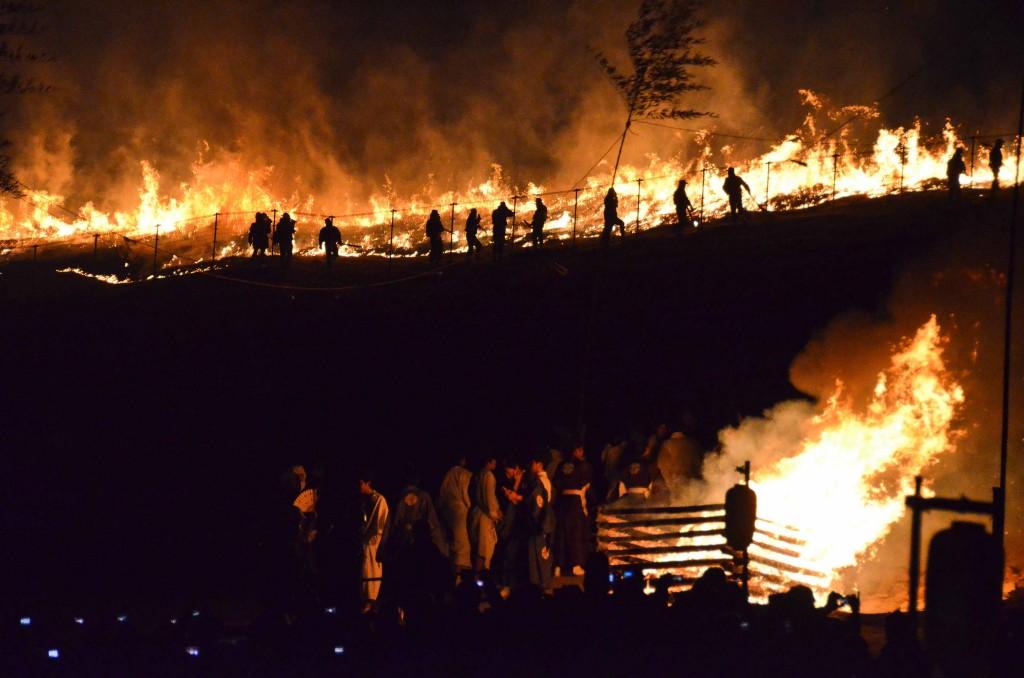 Bonfire and Grassfire at Wakakusa Yamayaki