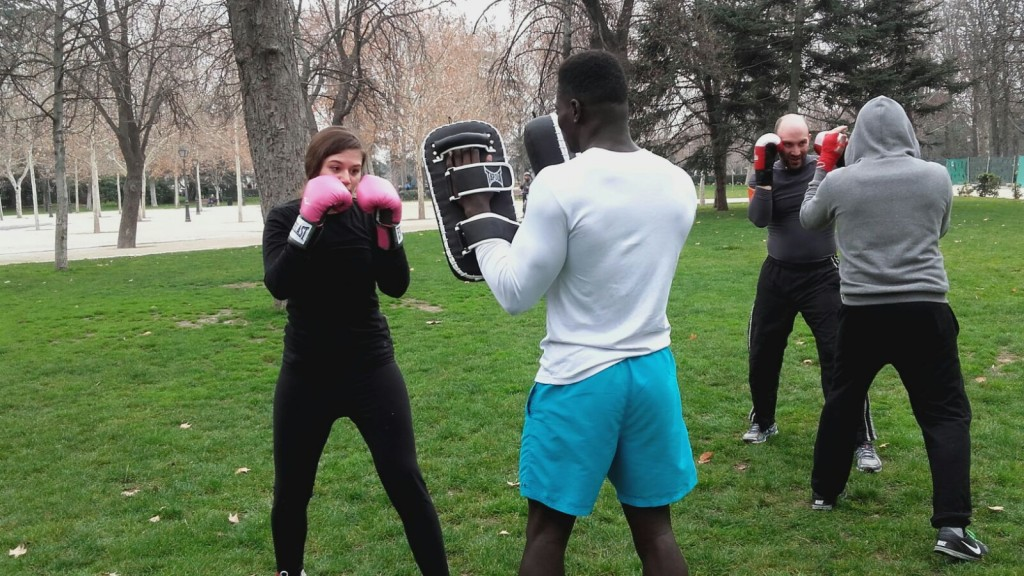 Box it out on a Saturday in the park | © Jab Cross Training