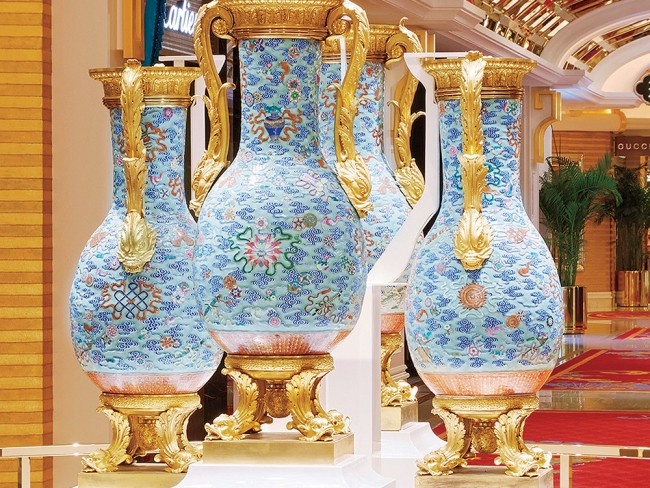 The Buccleuch vases | courtesy of Wynn Palace, Macau