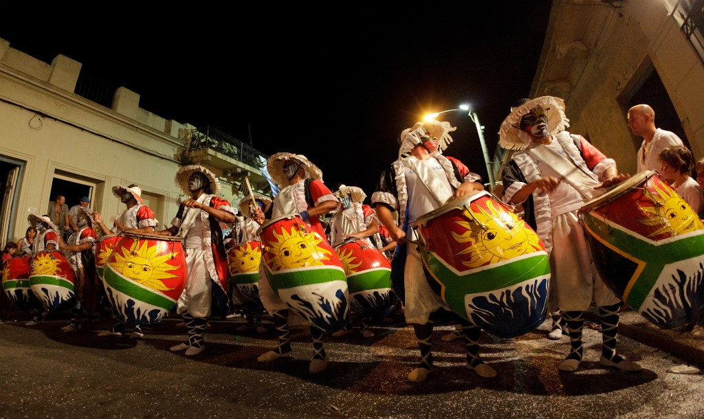 Candombe drummers in Barrio Sur © Jimmy Baikovicius