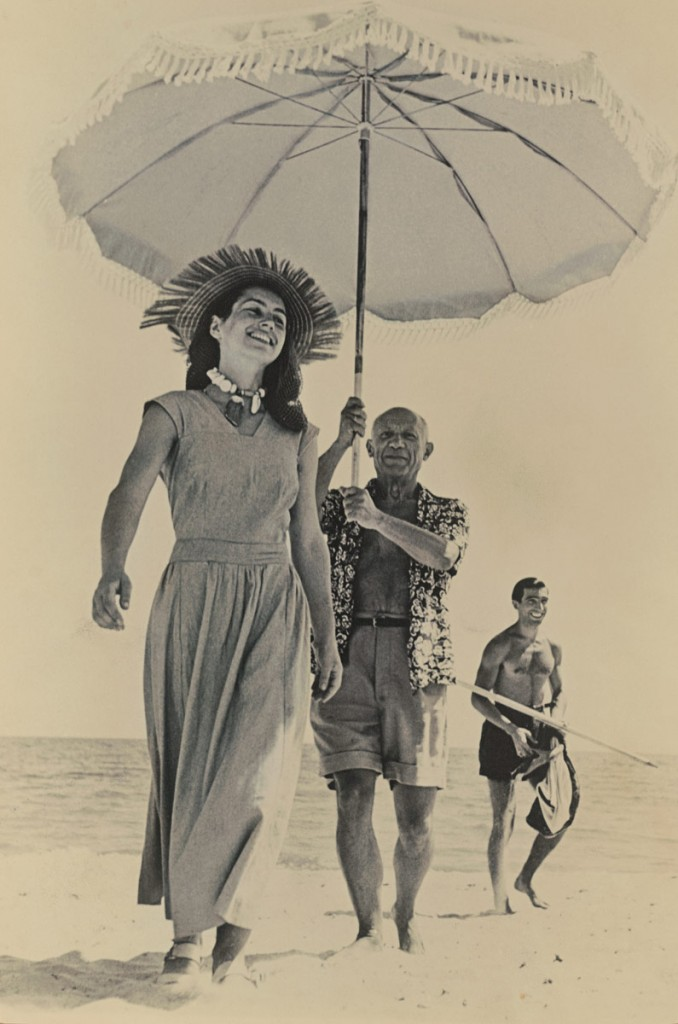 Robert Capa, 'Picasso and Francoise Gilot, Antibes', 1948 | Courtesy The Lucas Museum