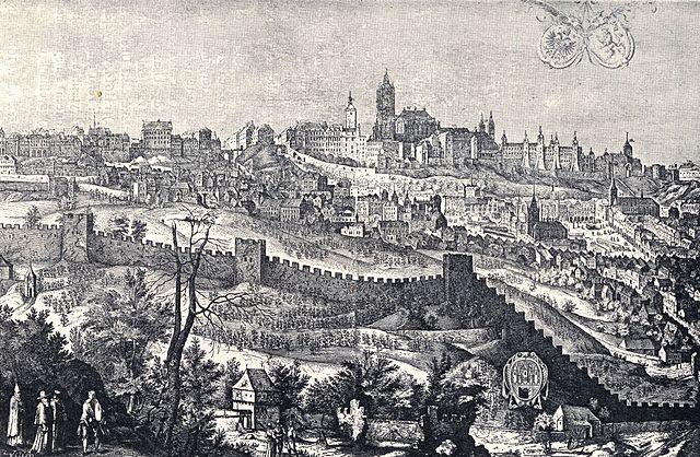 Prague Castle in 1607 | © Jiljí Sadeler / Wikimedia Commons