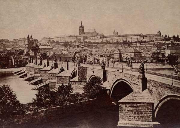 Prague Castle in 1870 | © František Fridrich / Wikimedia Commons