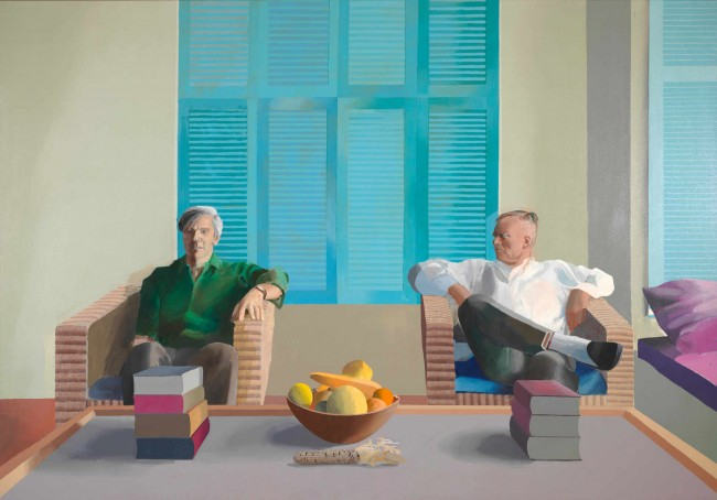 Christopher Isherwood and Don Bachardy painted by David Hockney