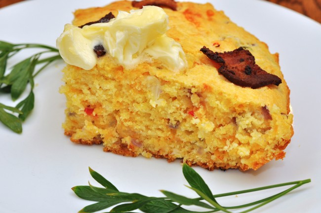 Bacon, Cheddar, Jalapeno Corn Bread| © jeffreyw/Flickr