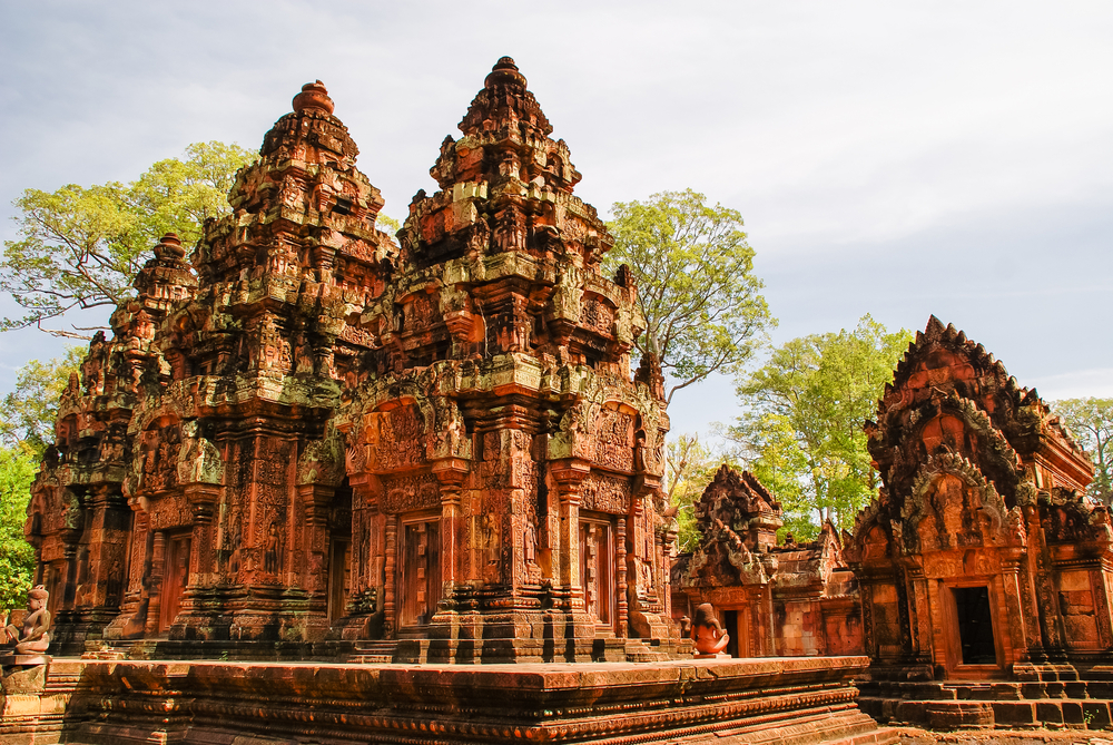 Beautiful Banteay Srei is further off the tourist trail. Copyright Shaozhi / Shutterstock Inc.
