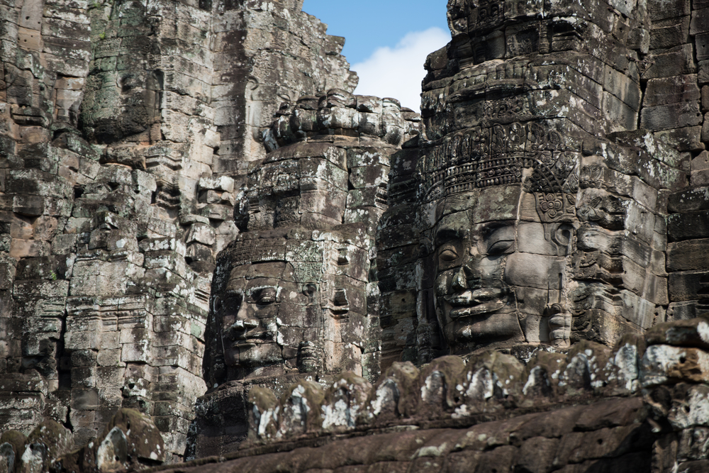 Bayon and its stone carved faces is popular with visitors
