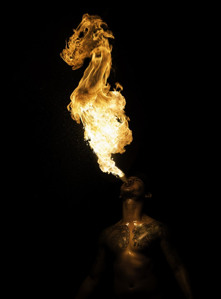 David Candlish, fire breathers, Singapore