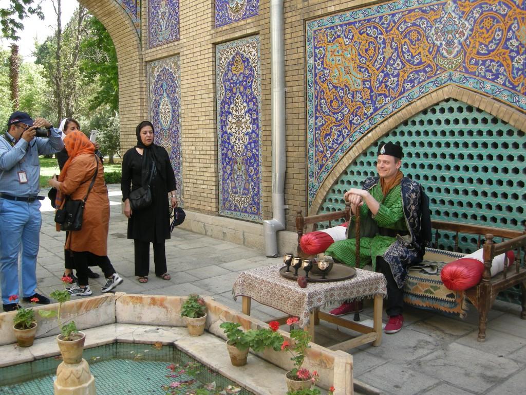 A Swedish tourist wear Qajar syles clothes   © Pontia Fallahi