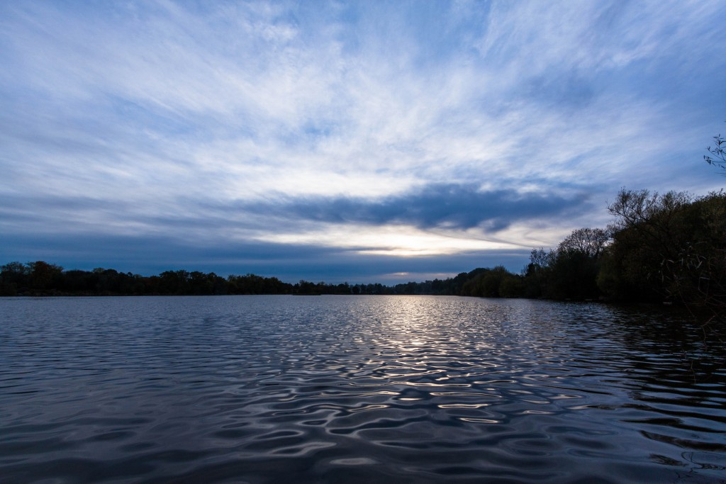 Earlswood Lakes at sunset