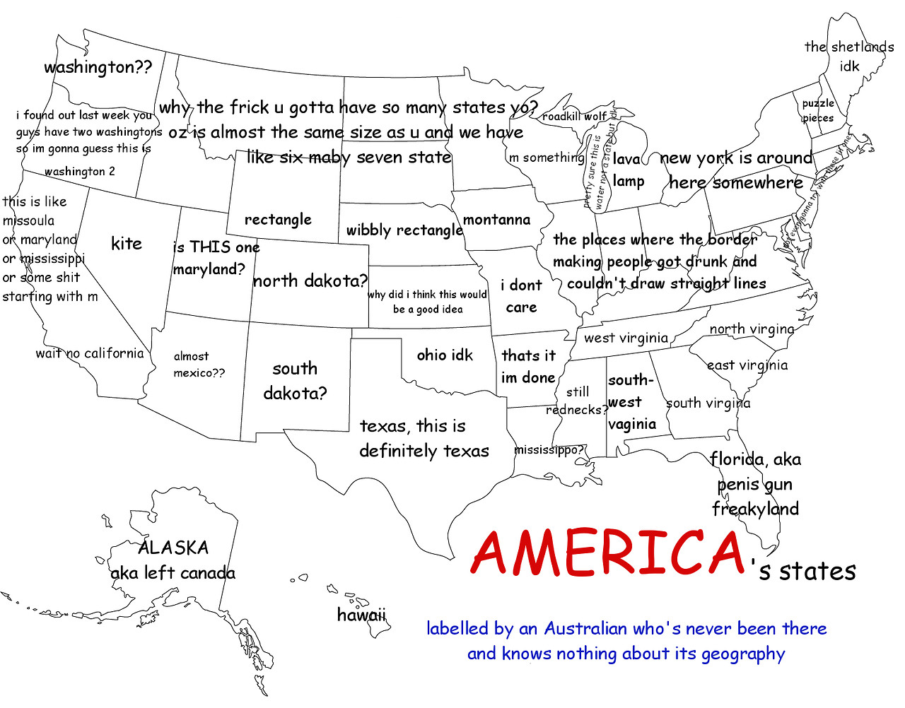 Funny And Interesting Maps That Show Just How Weird America - Show map of the us