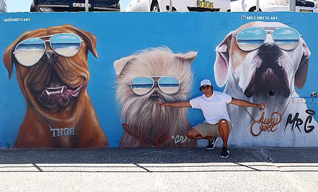 One of Mr G.'s Signature Dog Murals | Image Courtesy of Graham Hoete