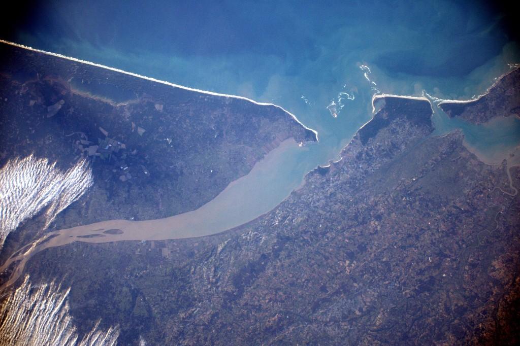 Estuaire de la Gironde │© ESA/NASA