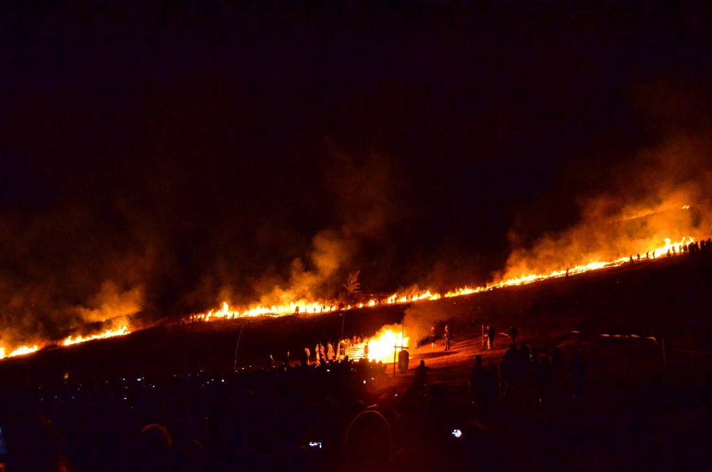 Fire at Mt. Wakakusa Yamayaki