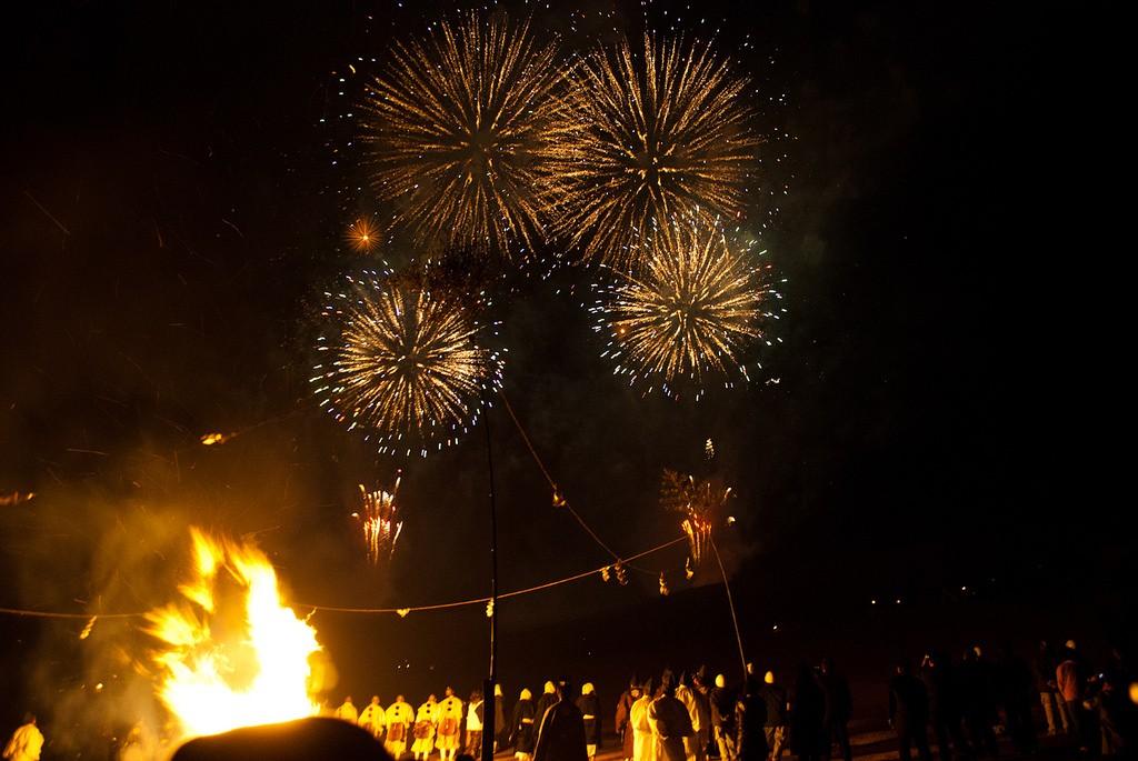 Fireworks at Wakakusa Yamayaki