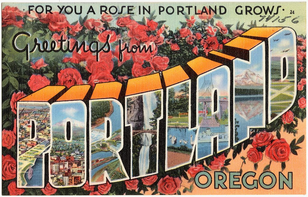 For you a rose in Portland grows. Greetings from Portland, Oregon | Public Domain/WikiCommons
