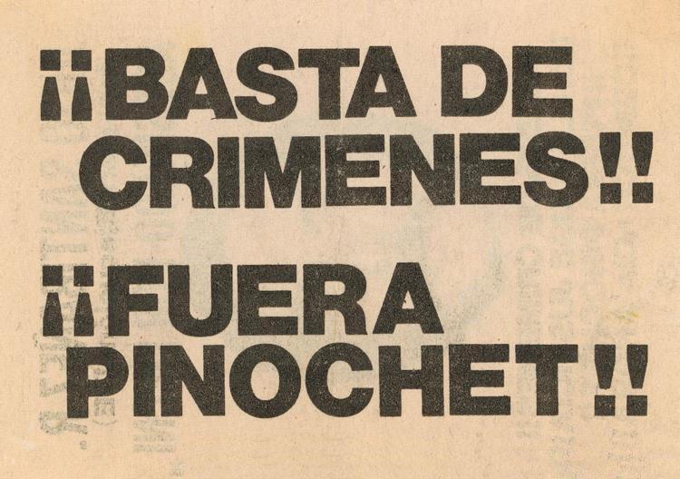 ¡¡Fuera_Pinochet!! courtesy of Wikimedia Commons