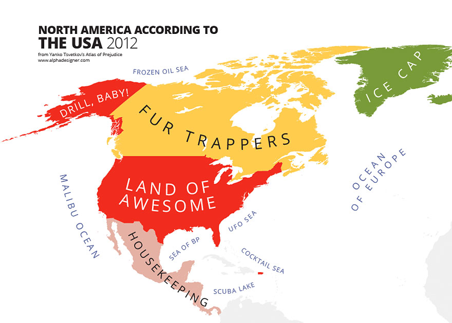Funny And Interesting Maps That Show Just How Weird America - Usa on a world map