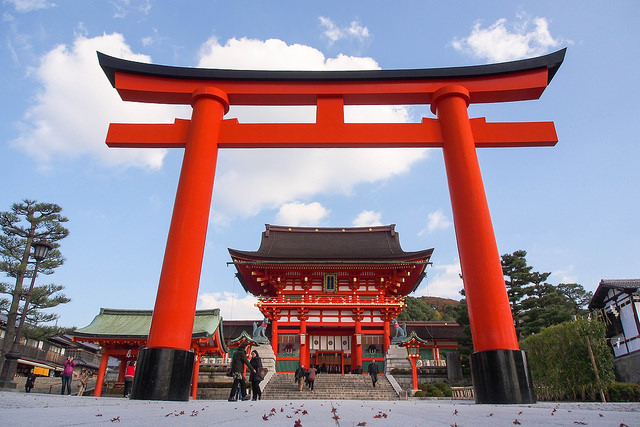 The Entrance to Fushimi Inari Shrine
